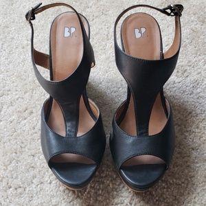 BP Black Wedge Sandal